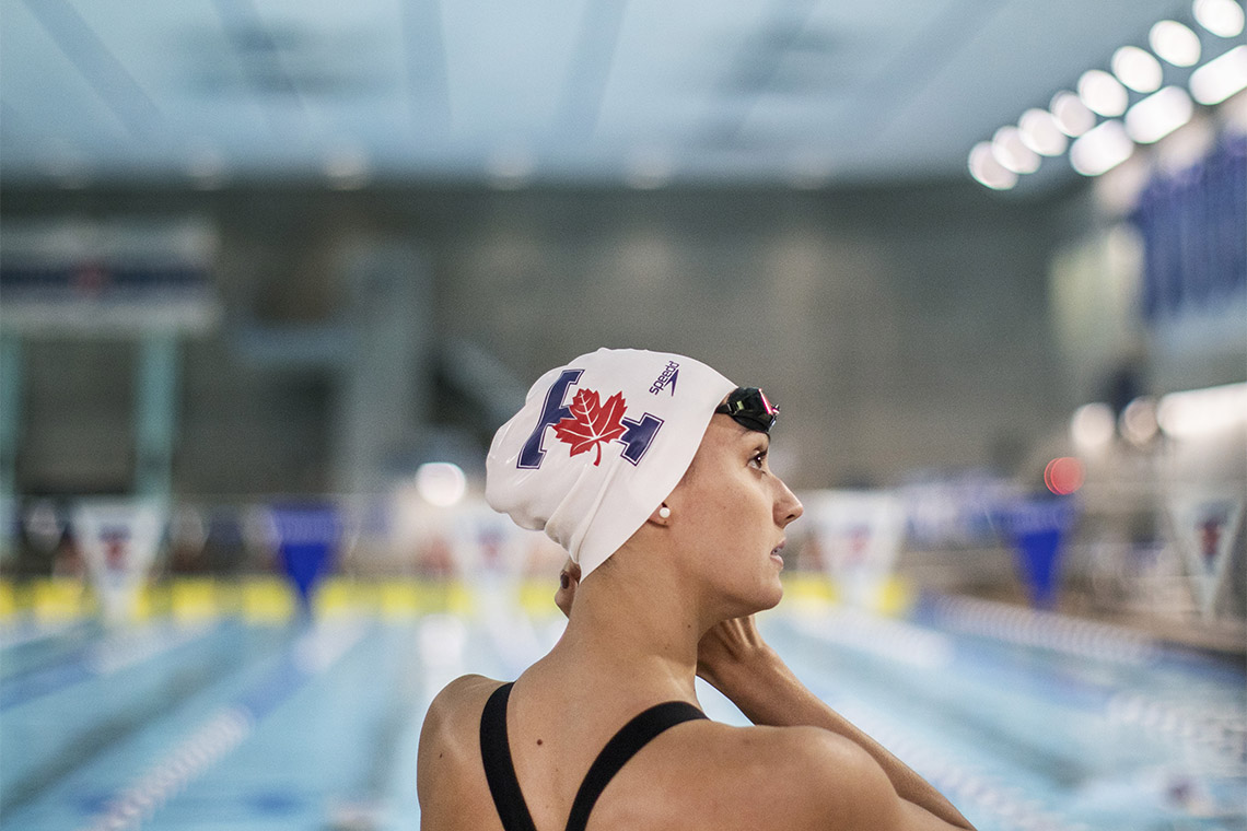 Portrait of Kylie Masse practicing at U of T
