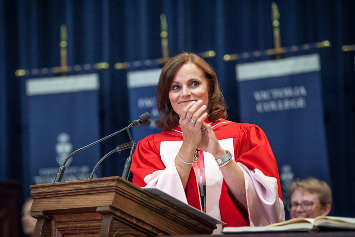 Judy Goldring accepts her honorary degree