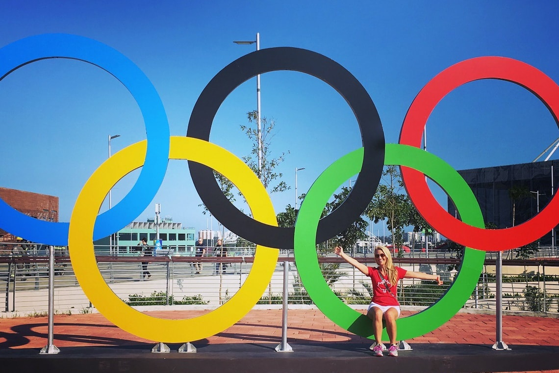 photo of Hampson sitting on rings