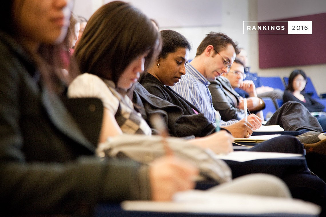 Photo of students taking notes
