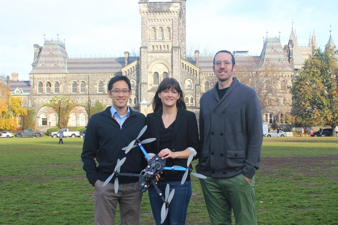 Photo of drone researchers