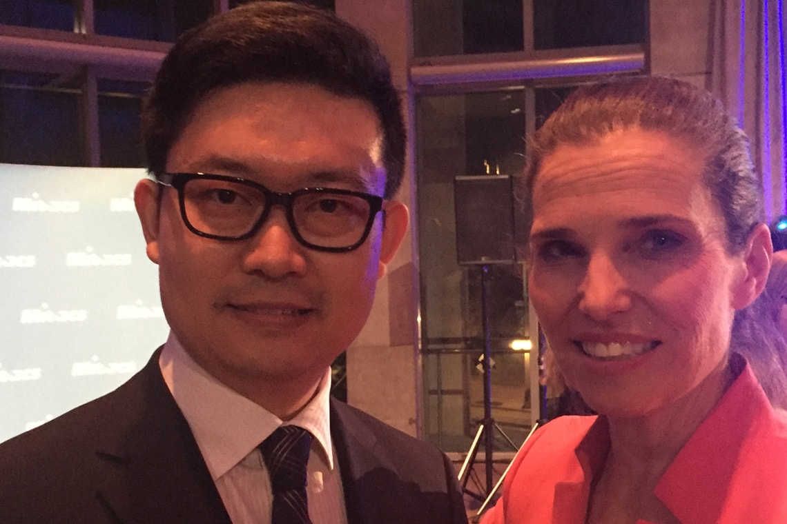 Photo of Wei Zhang with Minister of Science Kirsty Duncan
