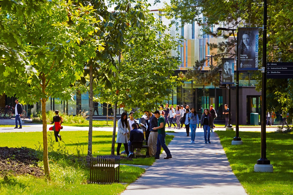 photo of students at UTM campus