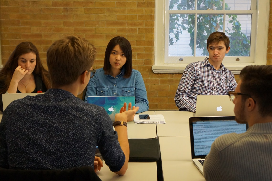 Photo of students in Munk one case competition