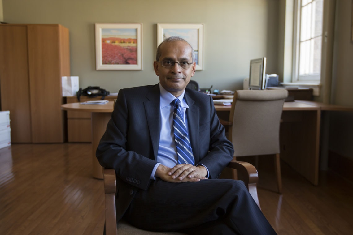 Vivek Goel seated in his office