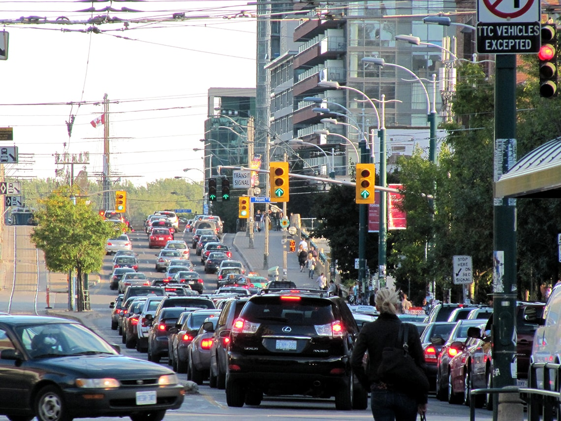 Photo of Toronto traffic on Spadina Avenue