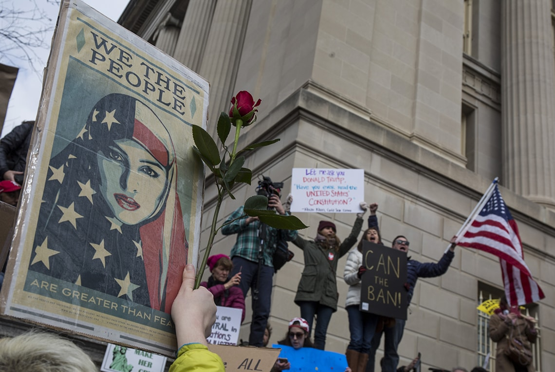 Photo of travel ban protest
