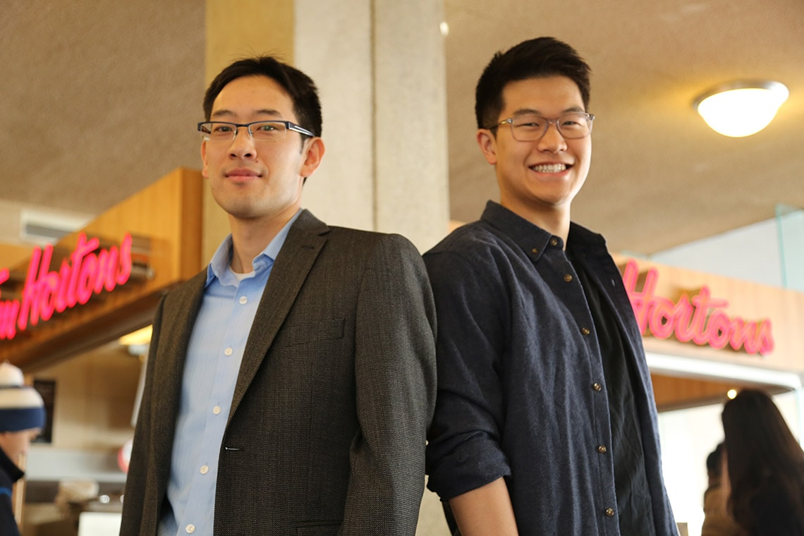 Photo of Timothy Chan and student