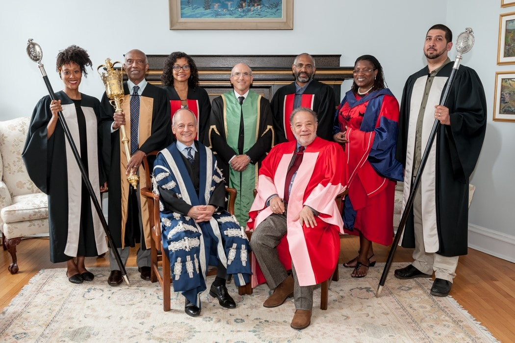 photo of Robert Hill with President and other members of academic procession