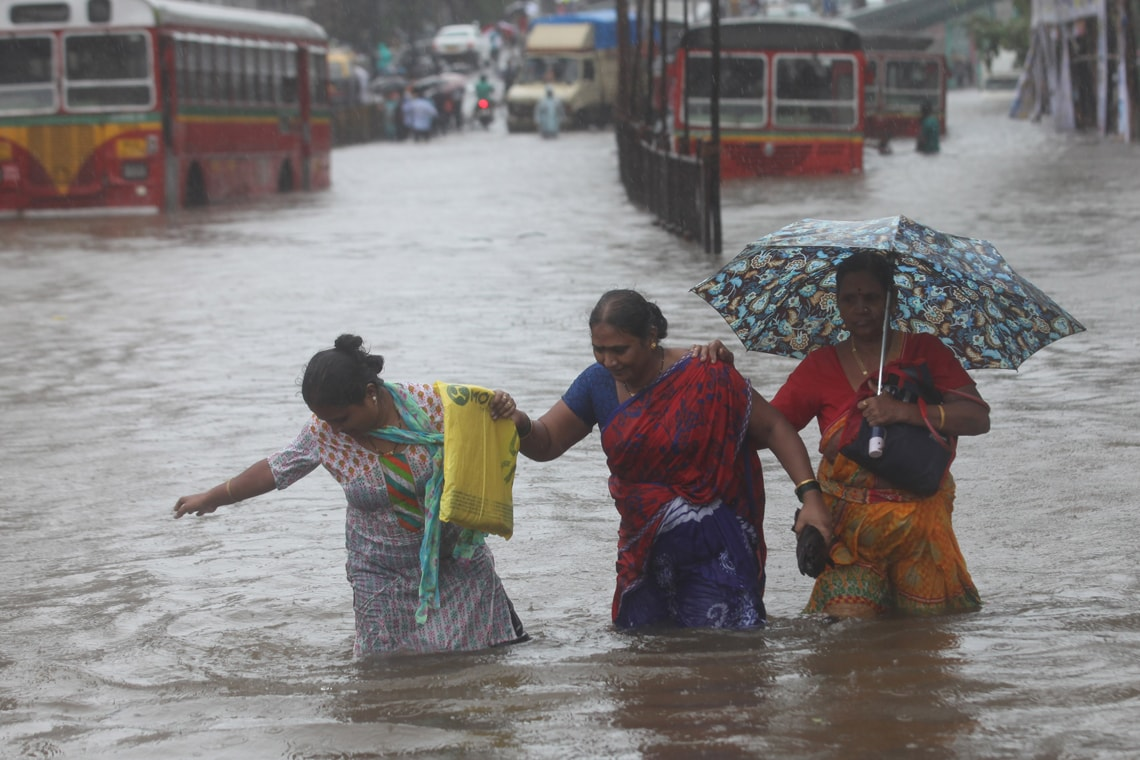 Photo of flooding in India