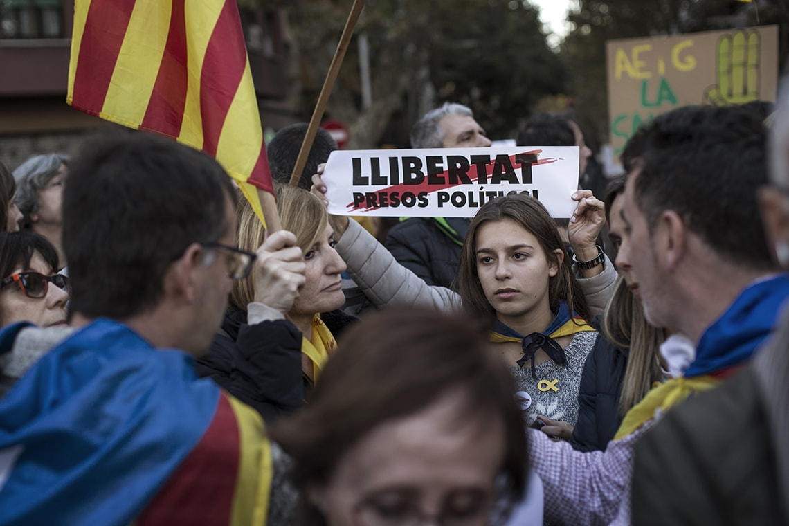 Photo of protest in Barcelona