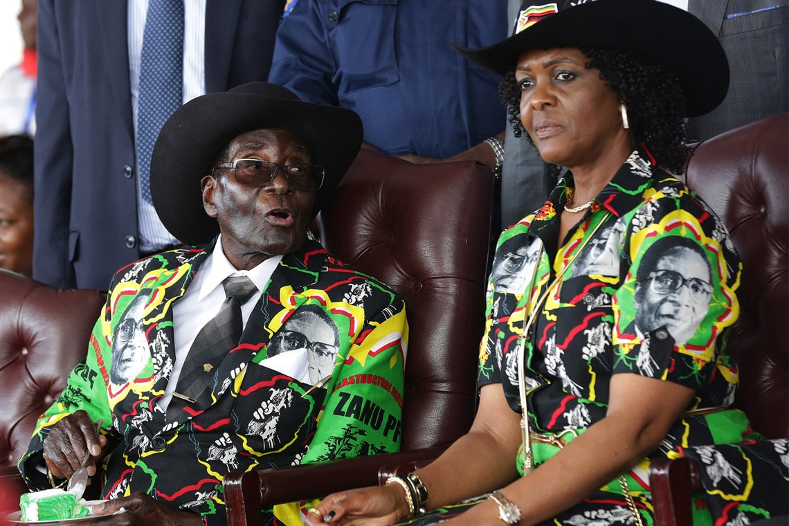 Photo of Robert Mugabe and Grace Mugabe