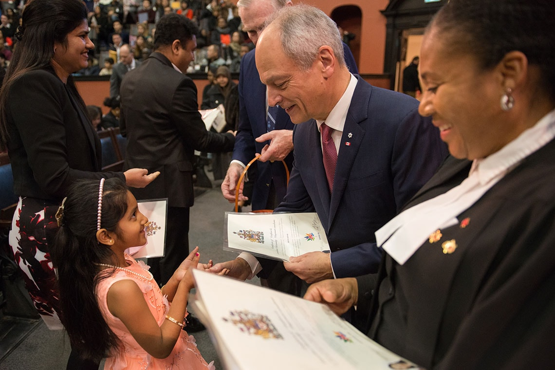Photo of Gertler at ceremony