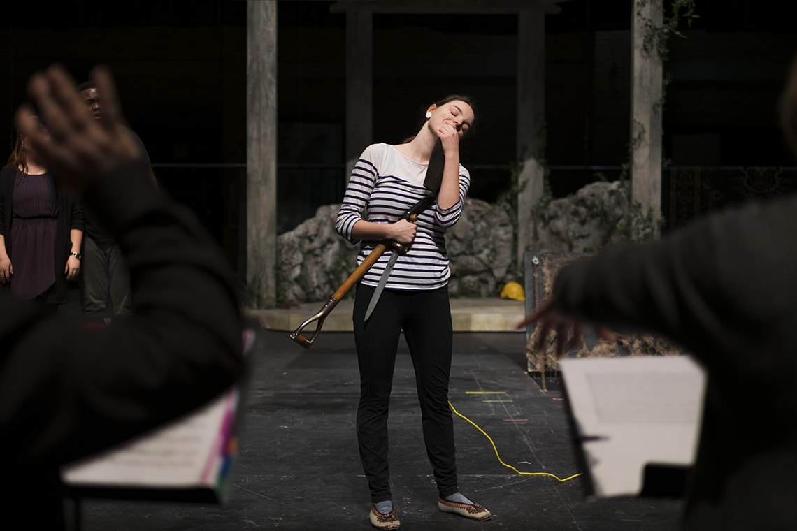 photo of student Rebecca Gray onstage