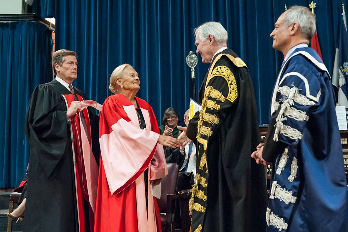 Photo of Loretta Rogers at convocation