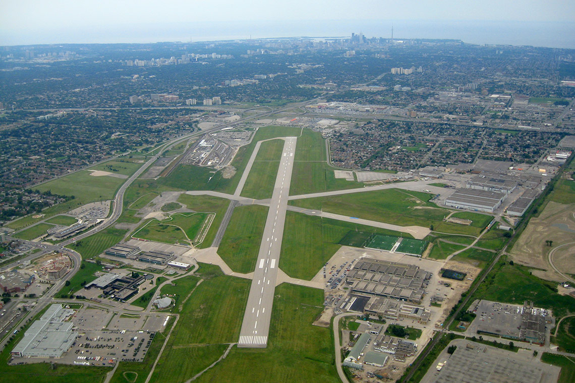 Aerial photo of Downsview Airport