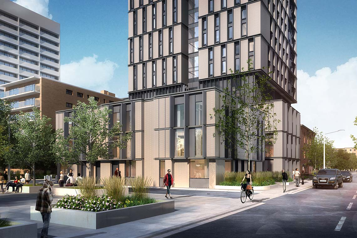 Rendering of Spadina-Sussex residence