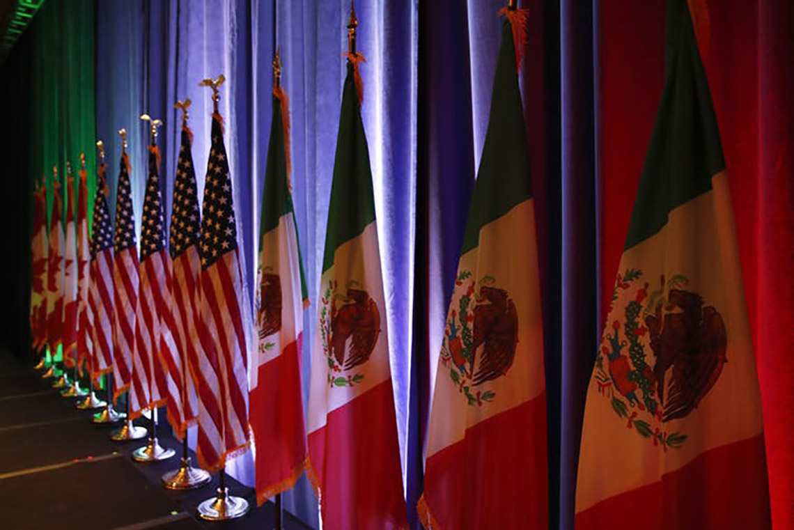 Photo of North American flags