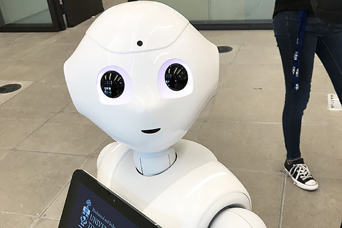 Photo of Pepper the robot