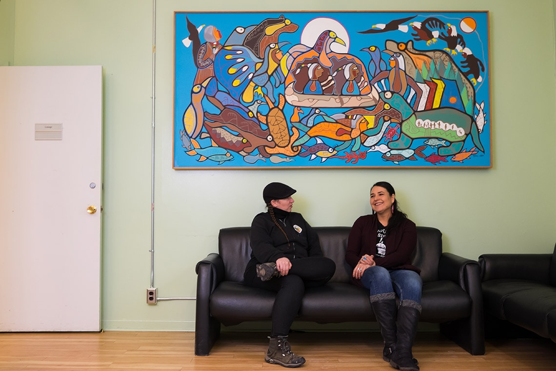 Photo of students at First Nations House