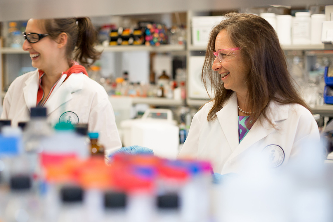 Photo of Molly Shoichet in lab
