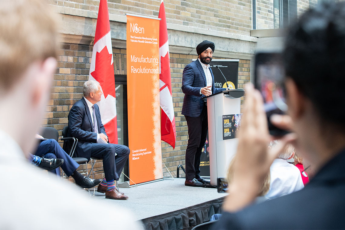 Sandeep Bains speaks at the NGen launch