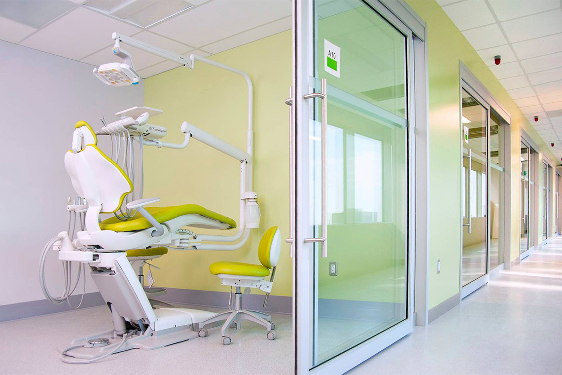 view of the new suites at the satellite faculty of dentistry clinic at 777 bay street