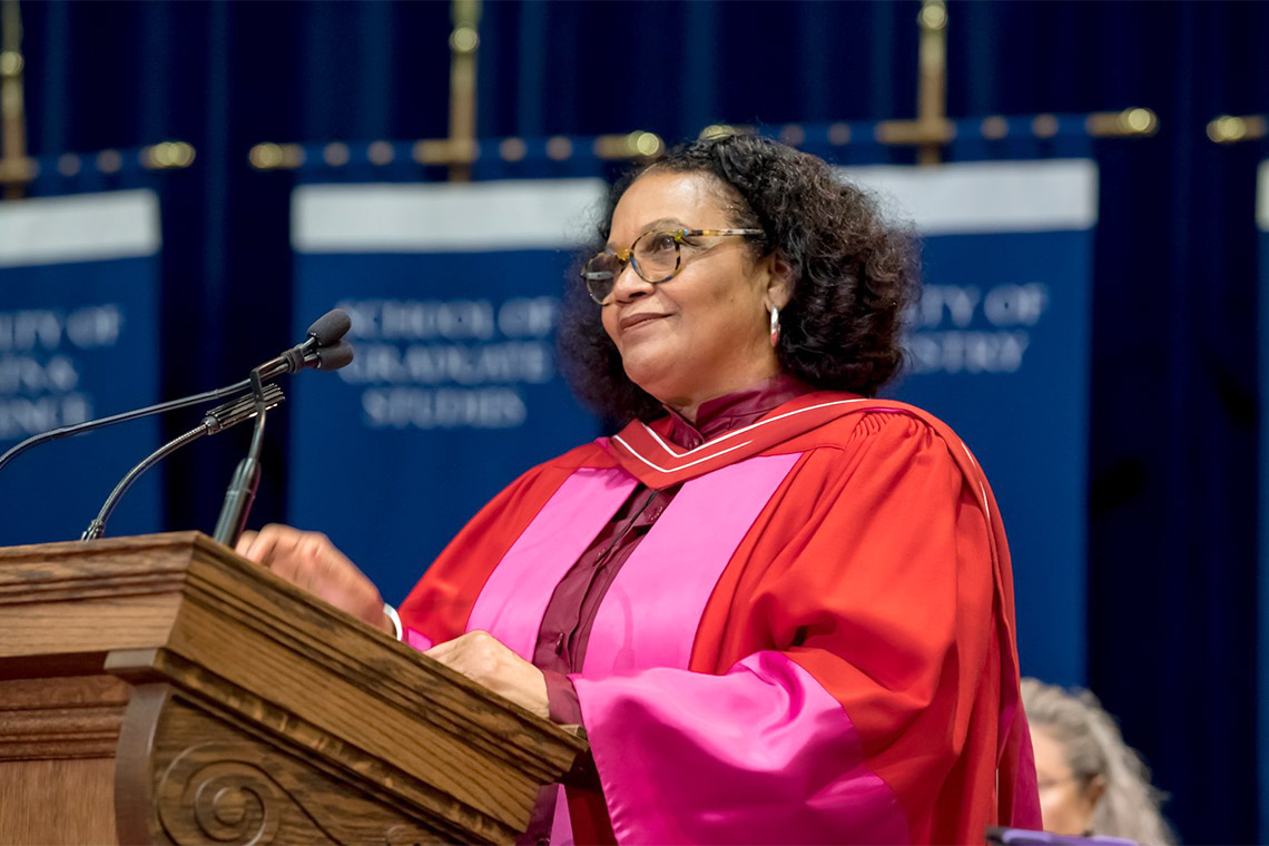 Lorna Goodison receives her honorary degree