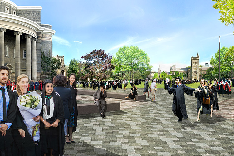 Rendering of convocation plaza