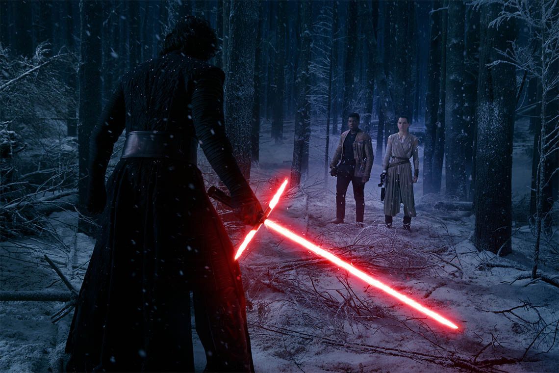 Screen shot from the Force Awakens
