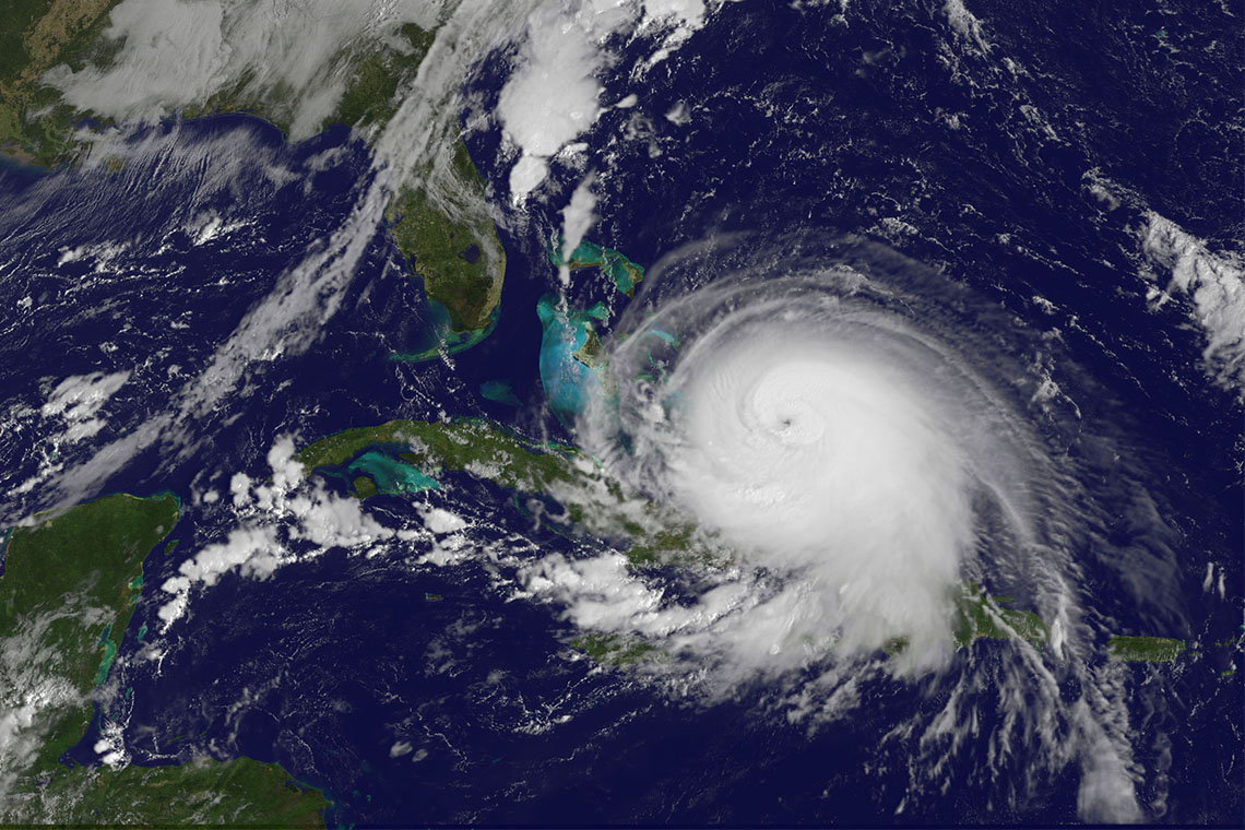 Hurricane Joachin seen from space