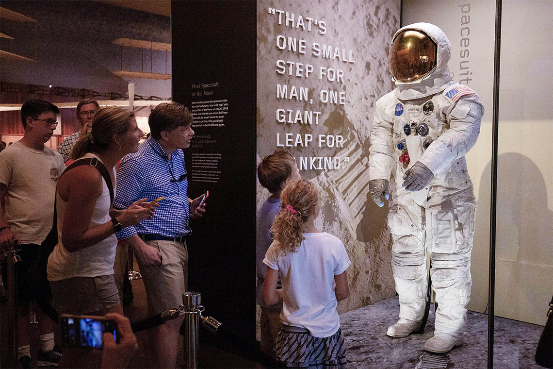 Photo of Neil Armstrong's Apollo 11 spacesuit
