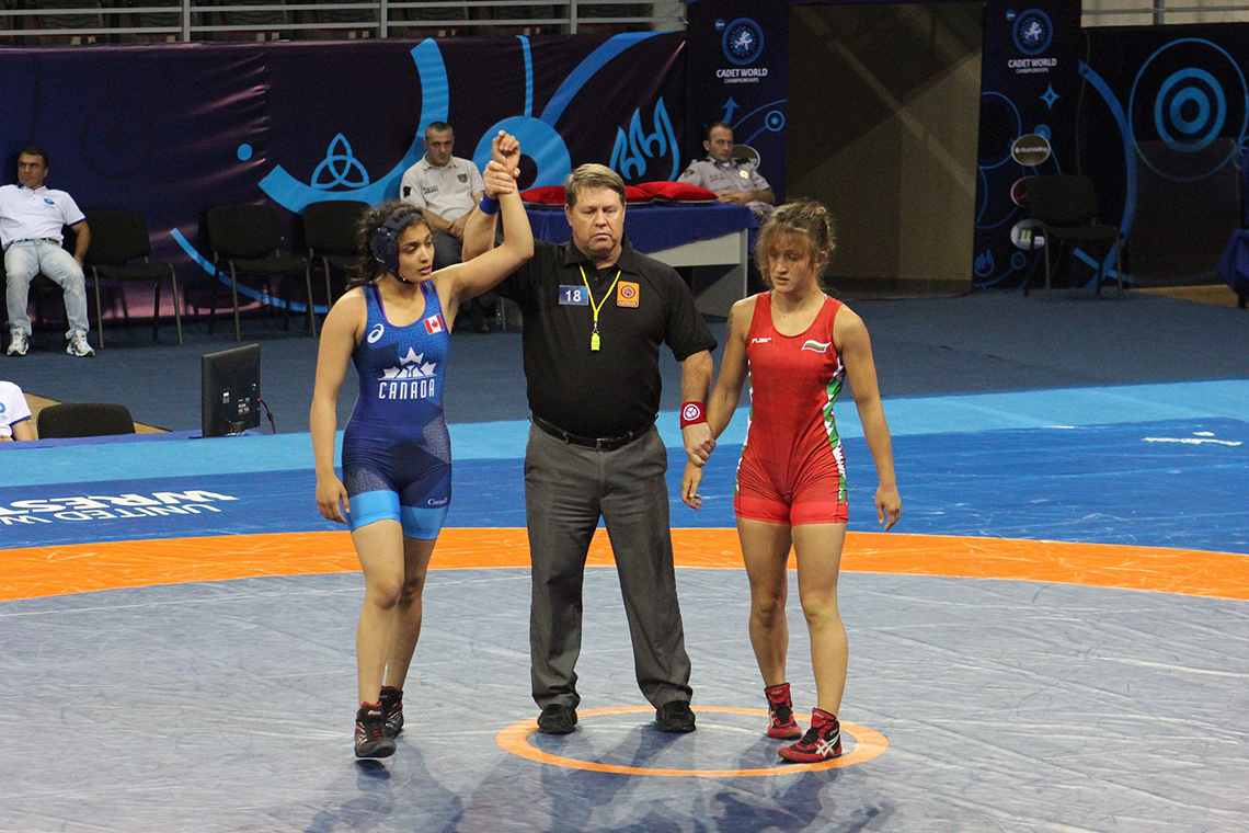 photo of Kirti Saxena at a wrestling match