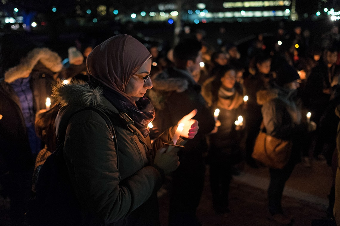 Vigil after Quebec City mosque shooting