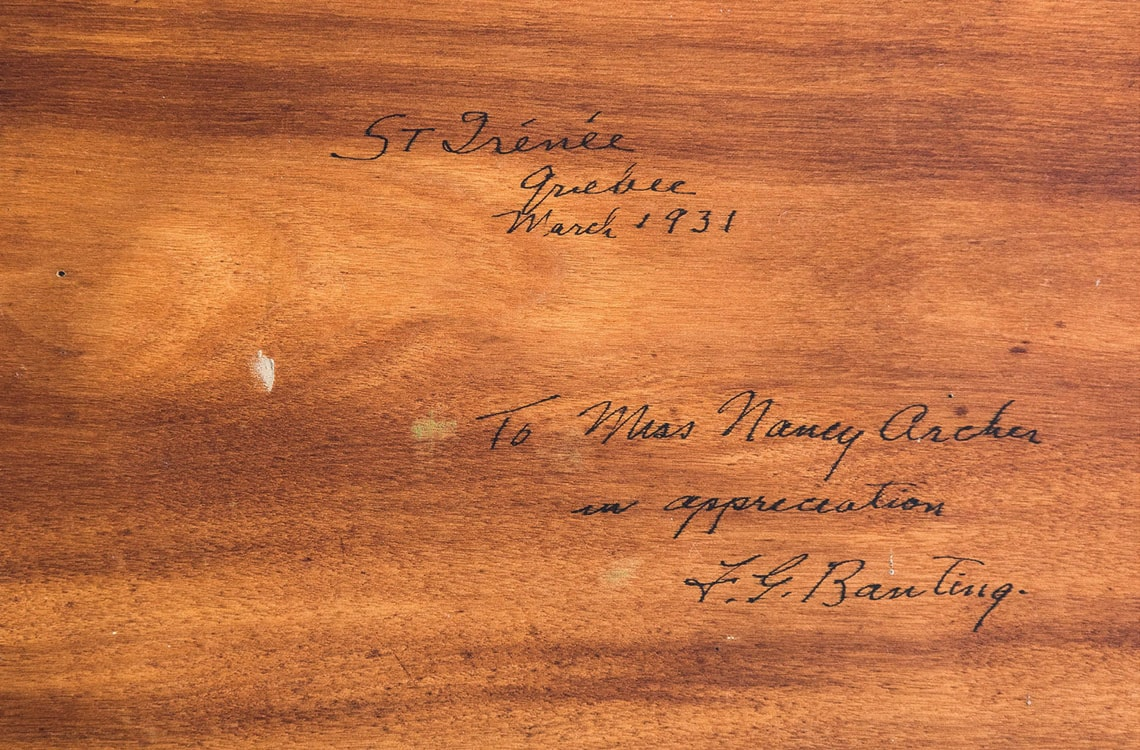 Cover of envelope addressed to Nancy Archer from Frederick Banting