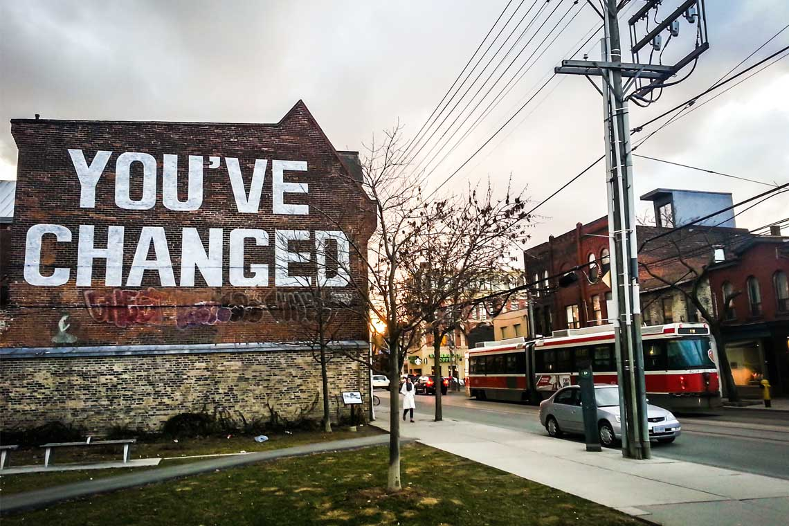 Photo of sign in Toronto