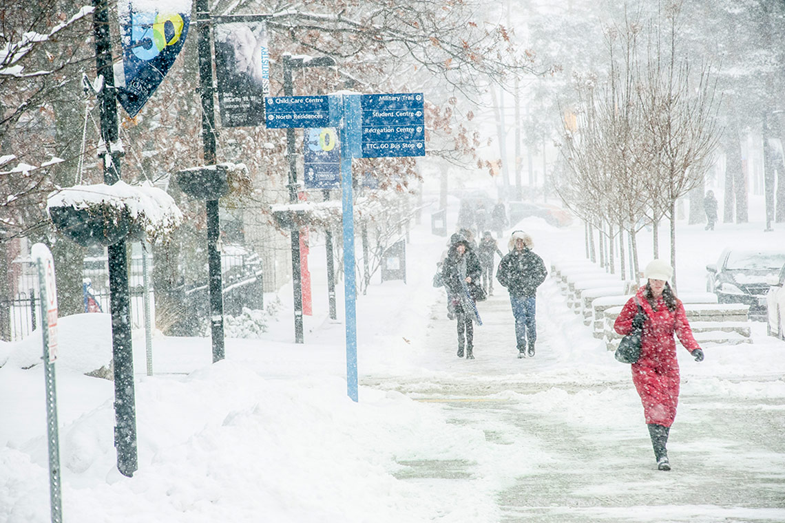 Photo of person walking at UTSC