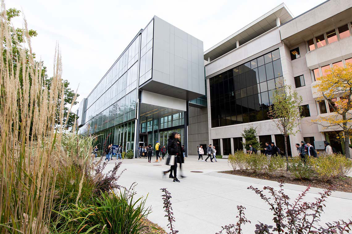 Photo of students walking on campus at U of T Mississauga