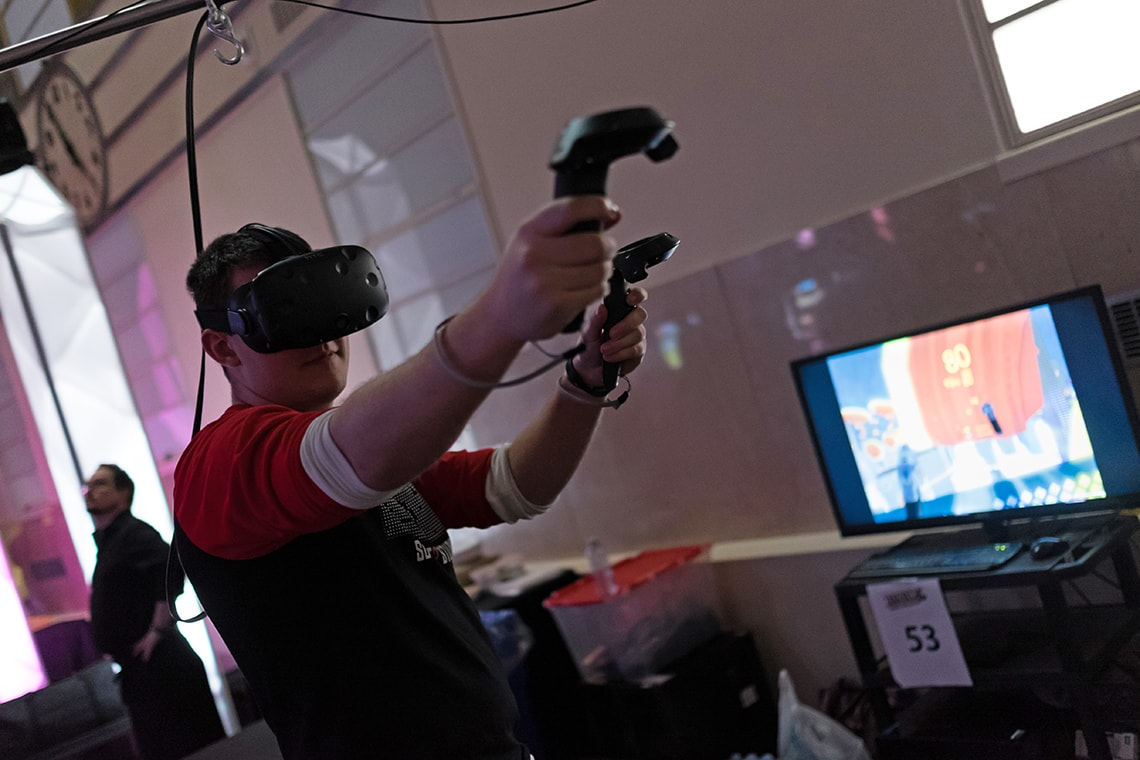 A photo of VR game at Level Up Showcase