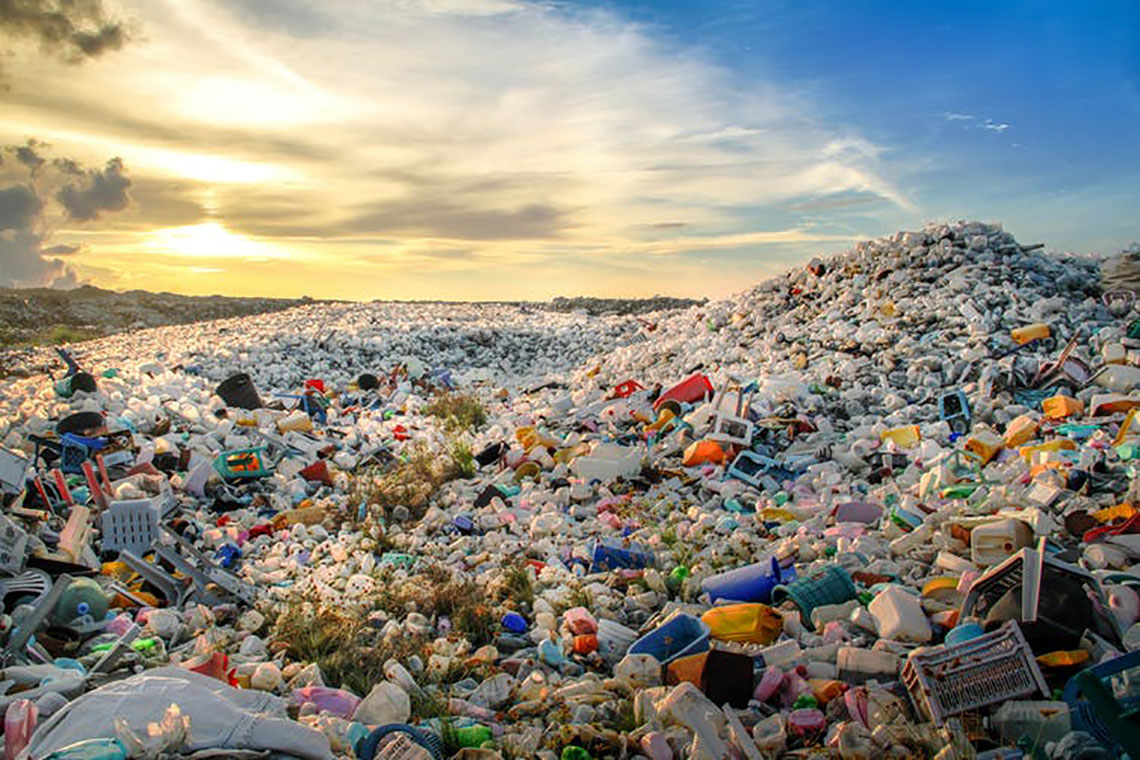 Photo of a pile of plastic waste