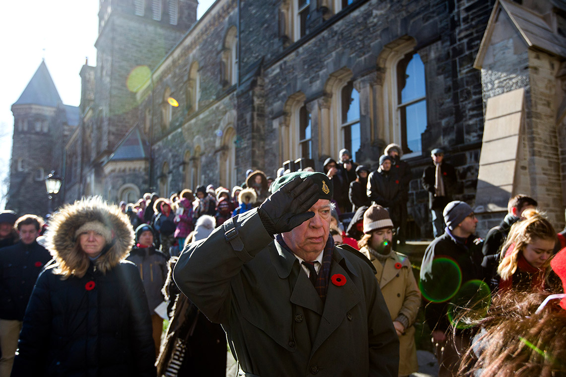 Photo of Rembrance Day ceremony