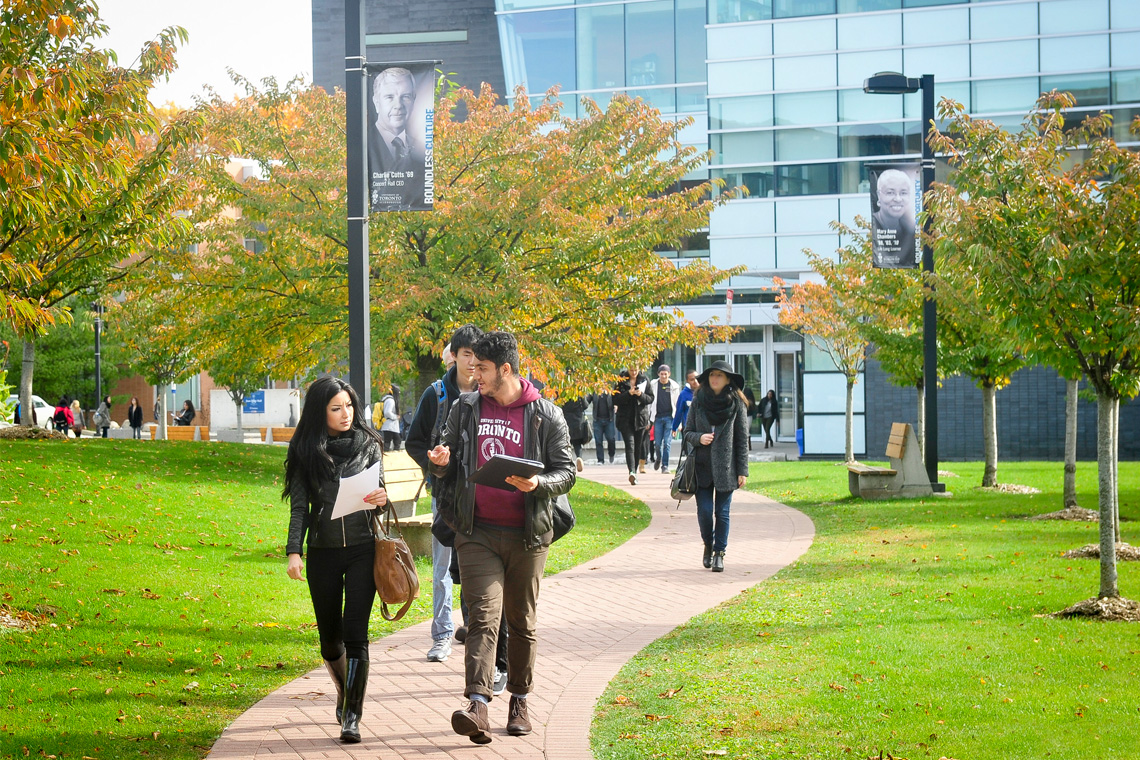 Photo of students walking at U of T Scarborough
