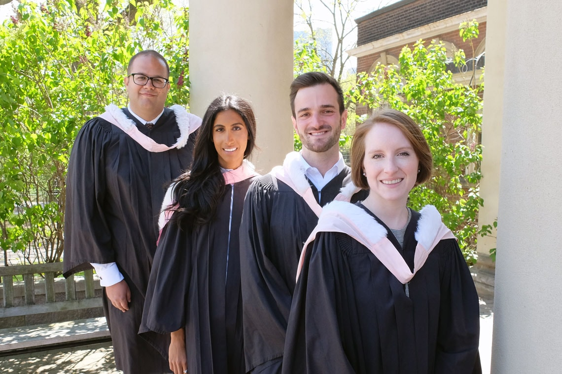 Photo of group of law graduates