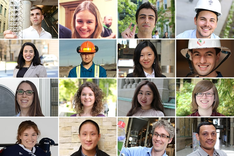 Photos of all the Engineering students mentioned in the story