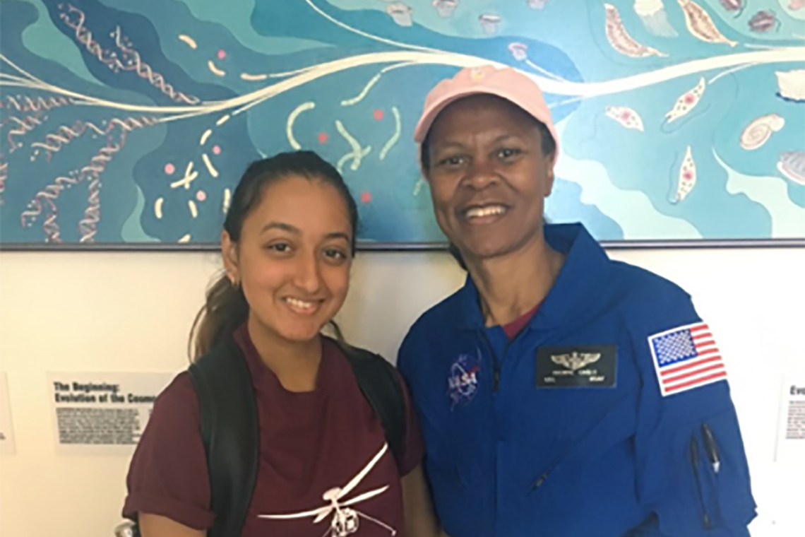 photo of Saanjali Maharaj and astronaut Yvonne Cagle