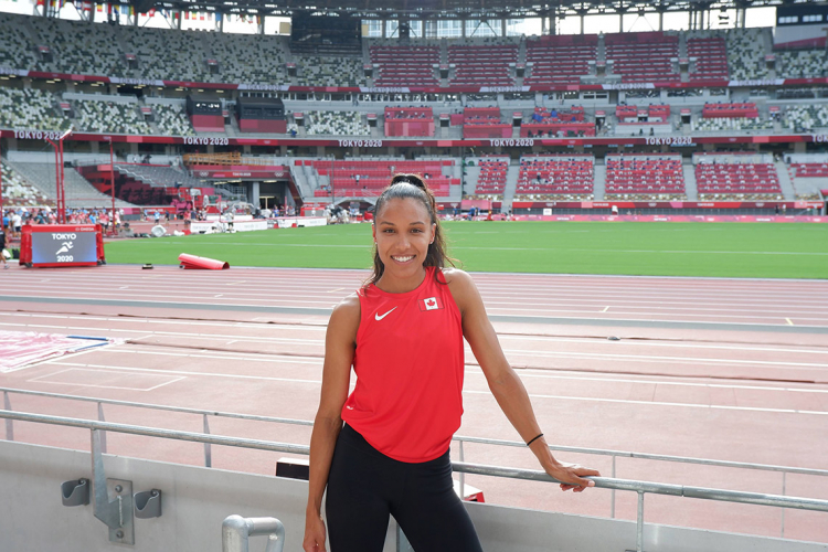 Alicia Brown at the Tokyo stadium during the 2020 olympics