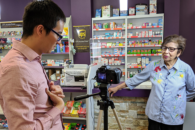 MedEssist Founder Michael Do with a patient at a pharmacy.