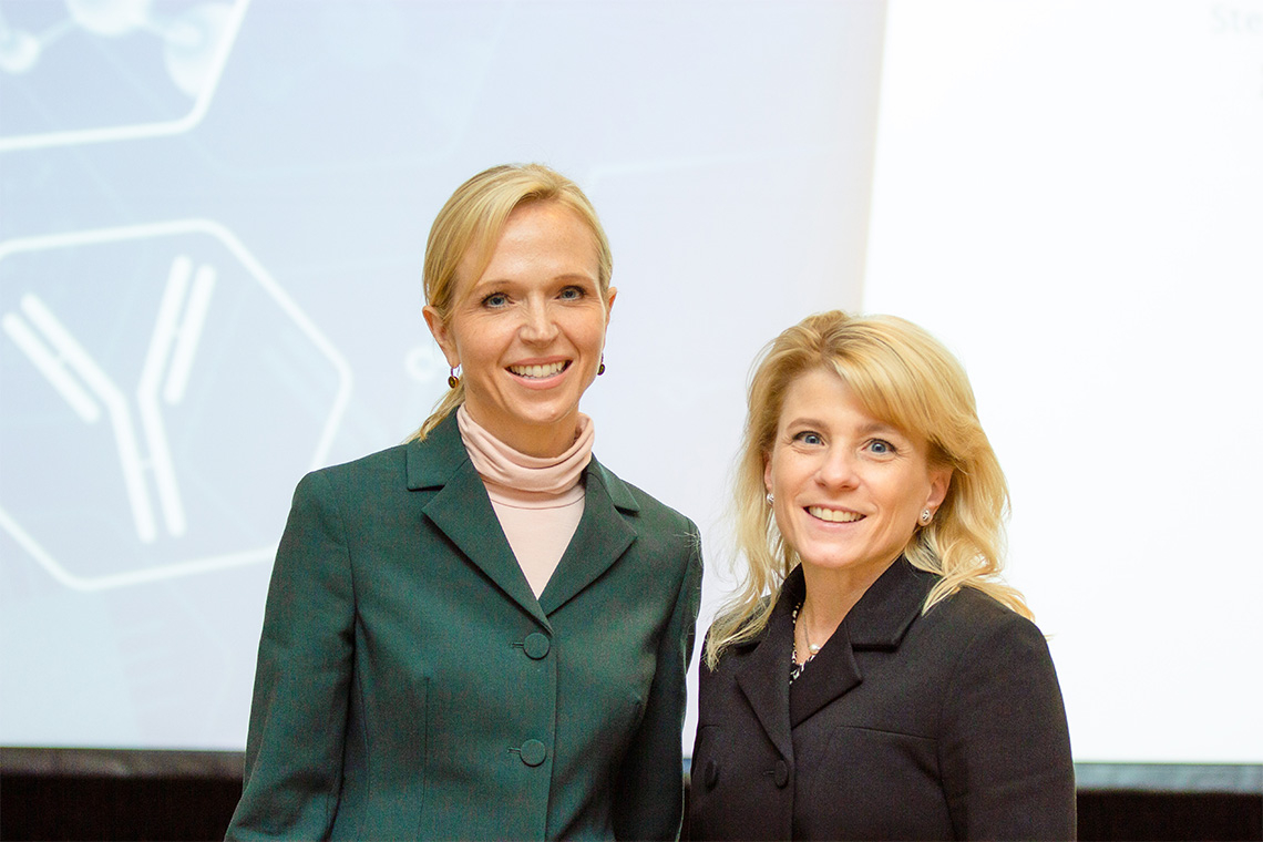 Christine Allen and Shana Kelley at the PRiME symposium