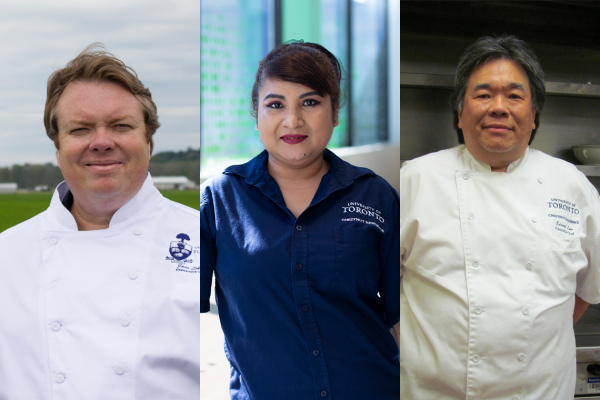 From left to right: Chef Jaco Lokker, Danita Seenarine, Chef Edward Low