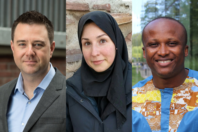 Composite photo of Jonathan Kelly, Marzyeh Ghassemi and Vincent Kuuire